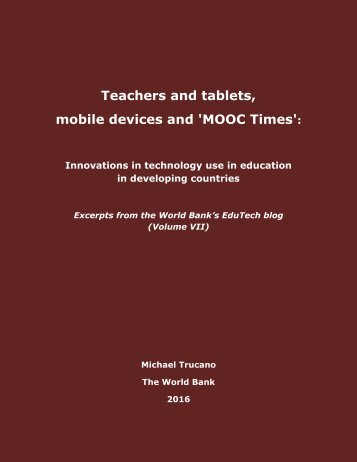 Teachers and tablets mobile devices and 'MOOC Times'