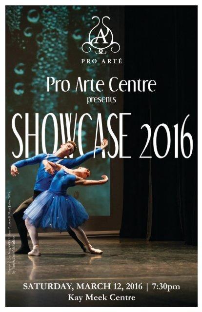 2016 Showcase program