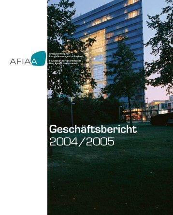 Geschäftsbericht 2004/2005 - AFIAA
