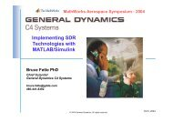Implementing SDR Technologies with MATLAB/Simulink