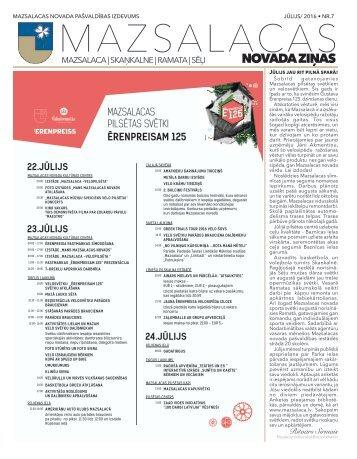 Mazsalacas novada ziņas 2016/07