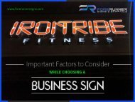 Important Factors to Consider while Choosing a Business Sign