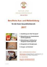 Weiterbildungsübersicht Natur- und Heilkundeschule Ina Gutsch 2017