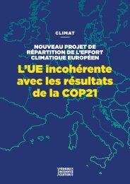 L'UE incohérente avec les résultats de la COP21