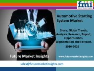 Automotive Starting System Market size in terms of volume and value 2016-2026