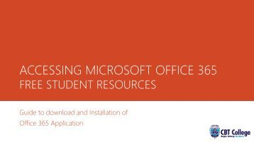 ACCESSING MICROSOFT OFFICE 365 FREE STUDENT RESOURCES