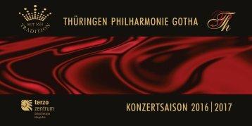 Thüringen Philharmonie Gotha Jahresheft 2016/2017