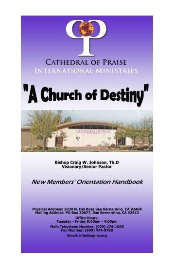 Cathedral of Praise New Member Handbook