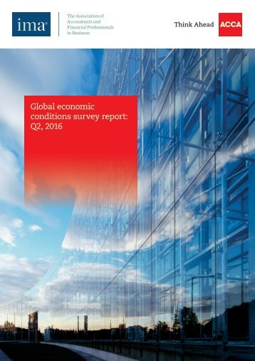 Global economic conditions survey report Q2 2016