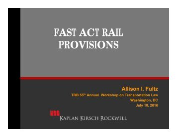 FAST ACT RAIL PROVISIONS