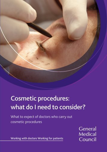 Cosmetic procedures what do I need to consider?