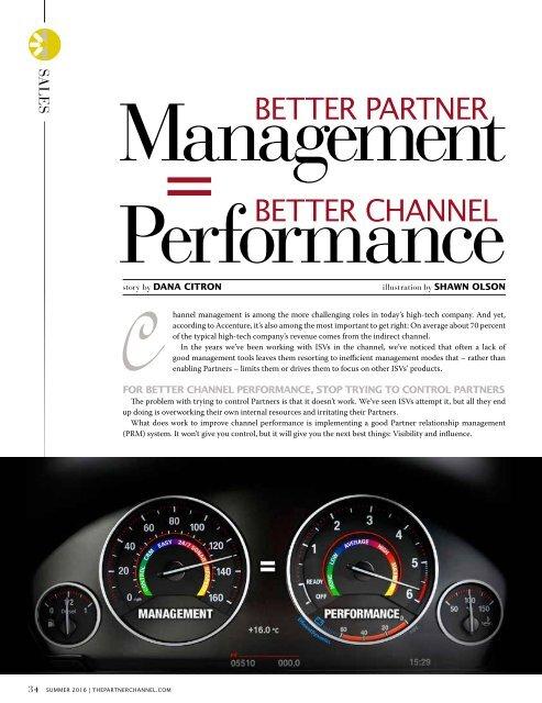 The Partner Channel Magazine Summer 2016