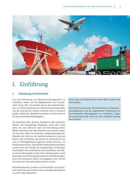 Technologietransfer und Non-Proliferation