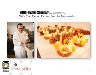2016 Fechlin Seminar with Chef Ramon Ramos
