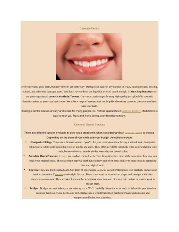 Cosmetic Dentist Tacoma