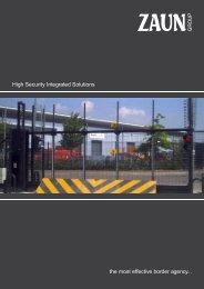 Zaun High Security Integrated Solutions Brochure