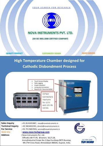 Nova Instruments Pvt. Ltd - High Temperature Chamber - Cathodic Disbondment Process