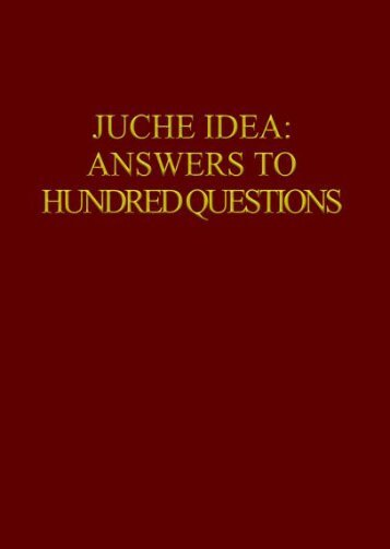 juche idea - answers