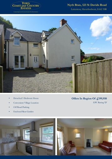 Nyth Bran 123 St Davids Road Offers In Region Of £199,950