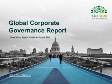 Global Corporate Governance Report