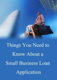Things You Need to Know About a Small Business Loan Application