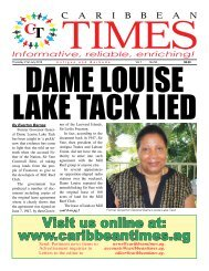 Caribbean Times 56th Issue - Thursday 21st July 2016