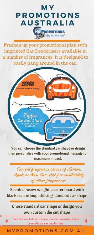 Custom Printed Promotional Car Deodorisers at My Promotions