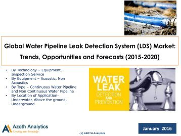 Pipeline Leak Detection Systems Project Standards And