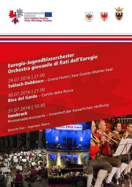 Konzertbroschüre EUREGIO Music Camp