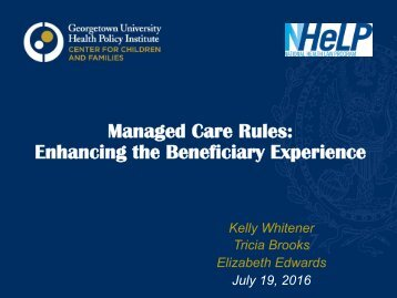 Enhancing the Beneficiary Experience