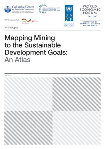 Mapping Mining to the Sustainable Development Goals An Atlas