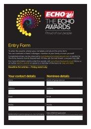 THE ECHO AWARDS