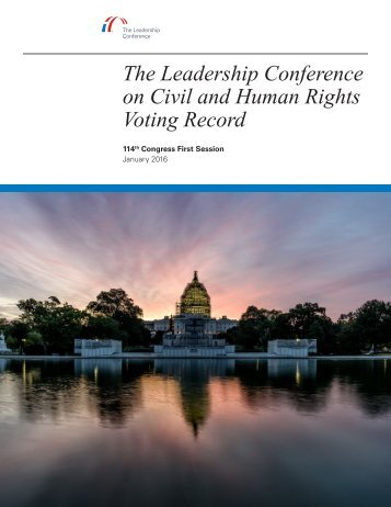 The Leadership Conference on Civil and Human Rights Voting Record