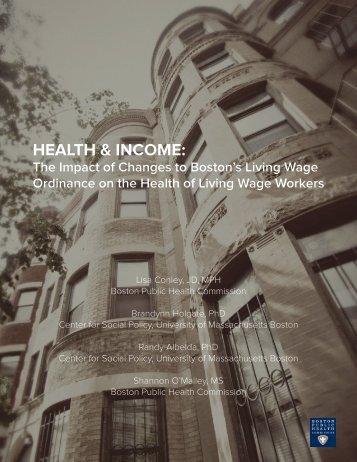 HEALTH & INCOME