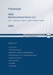 Preisspiegel 2009 (Erhebungszeitraum - Ring Deutscher Makler