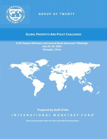 GLOBAL PROSPECTS AND POLICY CHALLENGES