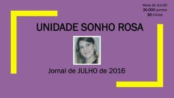 Jornal Sonho Rosa. Edição: julho, 2016