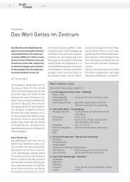 Praxisplatz - Das Wort Gottes im Zentrum (T. Halter)