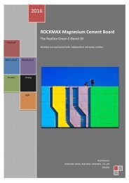 The revolutionary product RockMax magnesium cement board