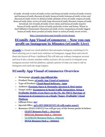 eComily Review and eComily (EXCLUSIVE) bonuses pack