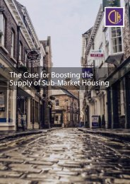 The Case for Boosting the Supply of Sub-Market Housing