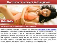 Sensual Independent Escorts Services in Bangalore