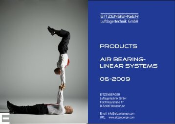 Products Air Bearing - Eitzenberger Luftlager GmbH