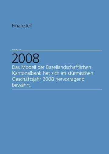 Finanzteil - Kantonalbanken