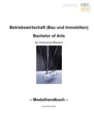 Betriebswirtschaft (Bau und Immobilien) Bachelor of Arts ...