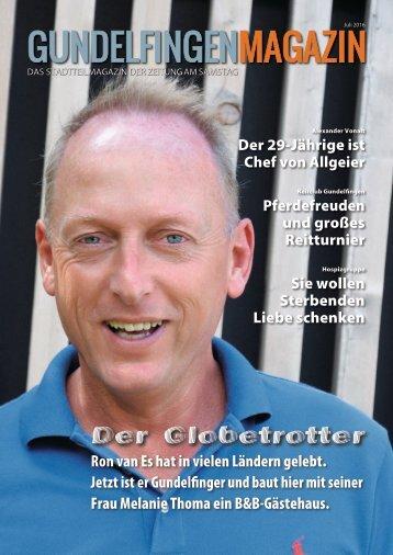 Gundelfingen Magazin, Juli 2016