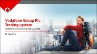 Vodafone Group Plc Trading update