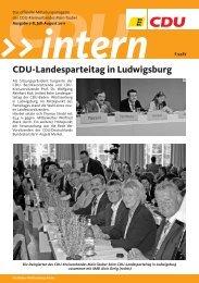 CDU-Landesparteitag in Ludwigsburg - CDU Main-Tauber