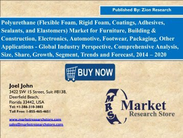 Global Polyurethane Market worth USD 77.0 Billion by 2020