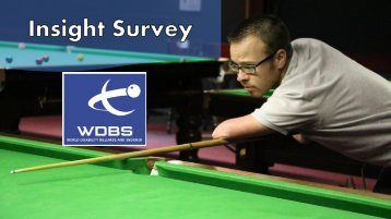 with a disability to play snooker or billiards